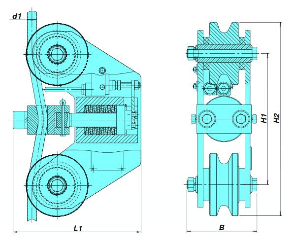 Габаритные размеры, чертеж ОГП